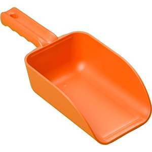 Remco 64007 Orange Polypropylene Injection Molded Color-Coded Bowl Hand Scoop, 32 oz, 1 Piece