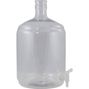 Plastic PET Carboy - 6 Gallon Ported with Spigot FE323