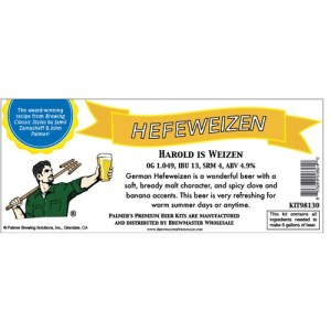 Palmer Premium Beer Kits - Harold is Weizen - Hefeweizen KIT98130