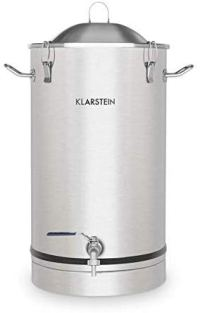 Klarstein Maischfest • 25 Liter Capacity • Fermentation Kettle • Beer Brewer • 304 Steel • Home Fermentation of Beer and Wine • Includes Fermentation Vials • Stainless Steel