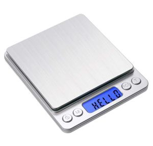 Gram Scale Digital Kitchen Scale Toprime Mini Size Food Scale 500g 0.01g High Precision Jewelry Weight Scale with Platform LCD Display Tare and Pcs Features