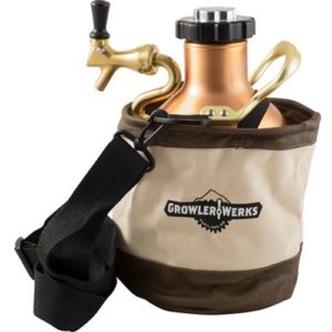 GrowlerWerks uKeg Khaki Carry Bag
