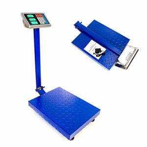"660lbs Digital Heavy Duty Shipping and Folding Postal Scale with 19.68"" x 15.75"" Durable Large Platform,Industrial Grade Bench Scale (Blue)"