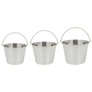 Bayou Classic 4888 3-Piece Stainless Steel Beverage Bucket
