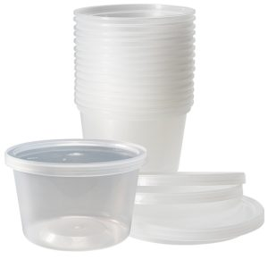 Deli Food Storage Containers with Lids, 16 Ounce (48 Count)