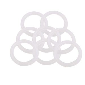 "BokyWox Silicone Gasket Tri-Clover,1.5/2"" inch Tri Clamp Sanitary Pipe Ferrules (8 Pack, 1.5"" inch Oring)"