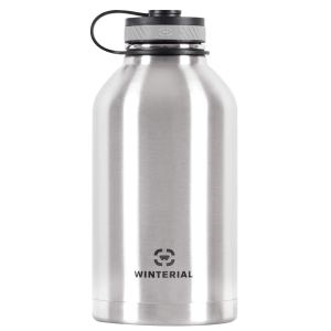 Winterial 64-Ounce (Oz) Insulated Water Bottle Wide Mouth Beer Growler