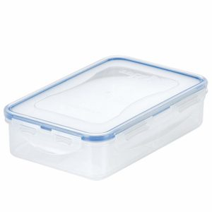 Lock & Lock HPL816C Easy Essentials On The Go Meal Food Storage Container With Divider / Food Storage Bin With Divider - 27 Ounce, Clear