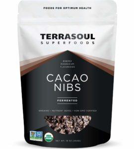 Terrasoul Superfoods Raw Organic Cacao Nibs, 1 Lb - Raw   Keto   Vegan