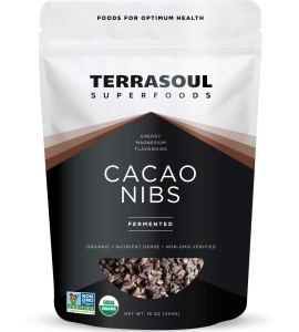 Terrasoul Superfoods Raw Organic Cacao Nibs, 1 Lb - Raw | Keto | Vegan