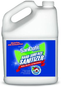 SaniDate Hard Surface Sanitizer - 1 Gallon - Ready to Use Refill - EPA Registered - No Mixing - No Rinse - Food Contact Surface - Green Cleaning
