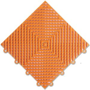 "IncStores Nitro Garage Tiles 12""x12"" Interlocking Garage Flooring (1-12""x12"" Tile, Harley Orange Vented)"