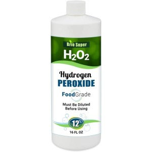 12% H2O2 Hydrogen Peroxide Food Grade Rapid Daily Shipping - Hydrogen Peroxide 12 Percent in Distilled Water with No Added Stabilizers