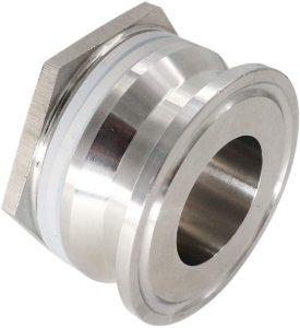"1.5"" Tri-Clover Bulkhead Compression Fitting,Tri Clamp homebrew Weldless Bulkehad 304 Stainless Steel Homebrew Kettle Bulkhead"
