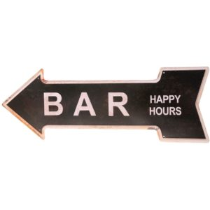 Ochoice Bar Signs Retro Arrow Embossed Metal Signs for Wall Decoration