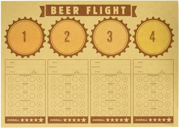 "Creative Converting Cheers & Beers Beer Flight Placemats Party Supplies, 14"" x 10"", Multicolor"