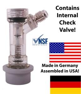 "Ball Lock Check Valved Gas Disconnect 1/4"" MFL"