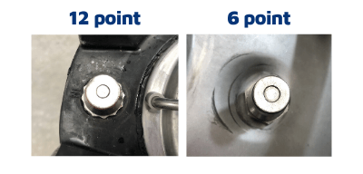 ball lock post sizes