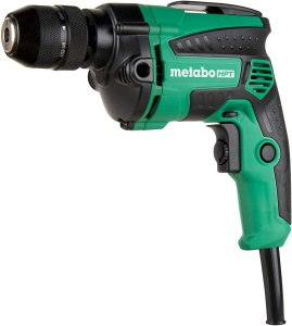Metabo HPT Drill, Corded, 7-Amp, 3/8-Inch, Metal Keyless Chuck, Variable Speed w/ Dial, Rubber Over-Molded Handle, Forward / Reverse, Belt Hook, 5-Year Warranty (D10VH2)