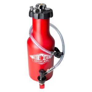 Craft Master CO2 Pressurized Growler in Red - EcoTraveler