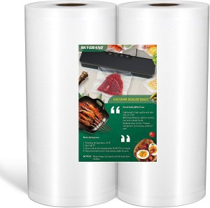 "Vacuum Sealer Bags for Food 8""x50' Rolls 2 Pack for All Vacuum Sealer Machine Food Saver, Seal a Meal, Commercial Grade, BPA Free, Great for Vac Storage, Meal Prep or Sous Vide"