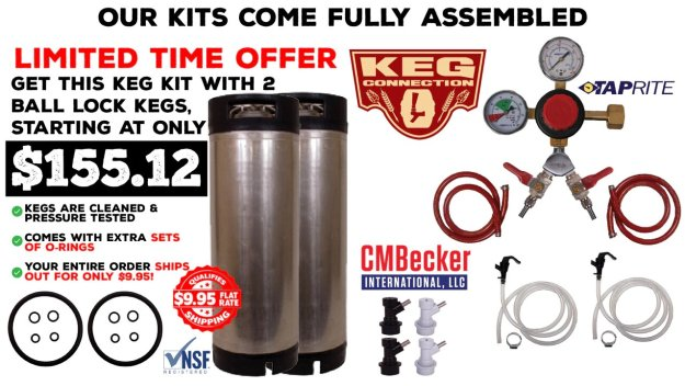2 Faucet Basic Homebrew Kegerator Kit