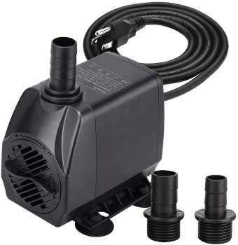 KEDSUM 880GPH Submersible Pump(3500L/H, 100W), Ultra Quiet Water Pump with 13ft High Lift, Fountain Pump with 5.9 ft Power Cord, 3 Nozzles for Fish Tank, Pond, Aquarium, Statuary, Hydroponics