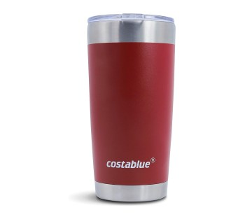 costablue Fresno Stainless Steel Vacuum Insulated Tumbler with lid… (red, 20 ounces)