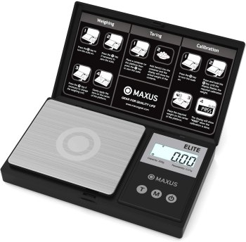 Precision Mini Scale 200 x 0.01g - MAXUS ELITE Digital Jewelry Scale Gram Scale Multifuction Grain Arrow Scale Archery Scale backed by a 10-Year Manufacturer Warranty