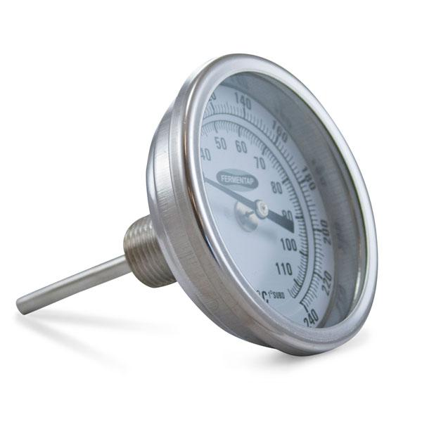 Fermentap Brew Pot Thermometer 25 Stem