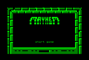 Mayhem for the Commodore PET (title screen)