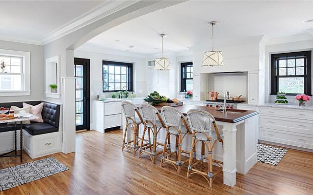 Bistro Style Kitchen With Breakfast Nook Home Bunch