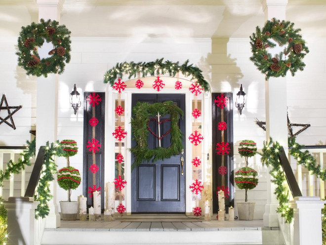 16 Rustic And Farm Style Holiday Front Porch Ideas Photos