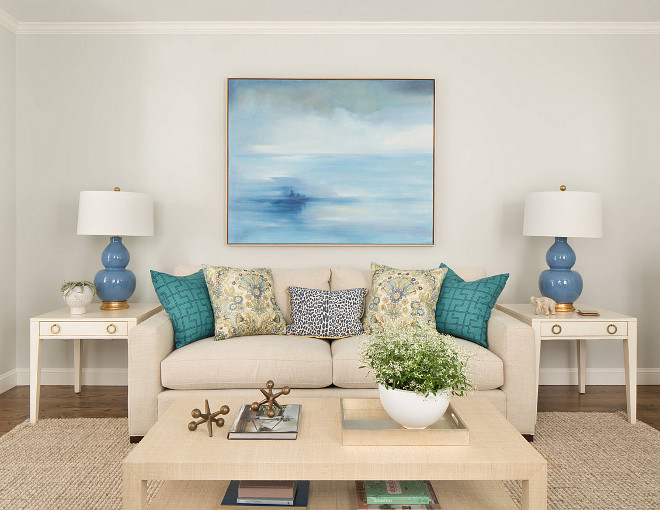 Neutral Accents In This Living Room
