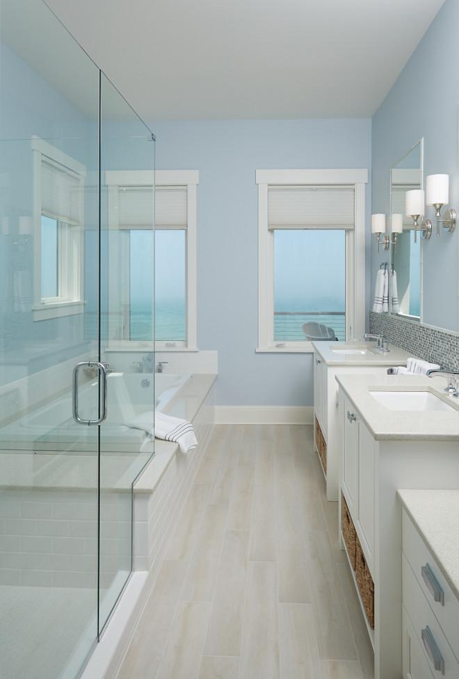 storybook shingle beach house with coastal interiors on blue paint bathroom ideas exterior id=61530