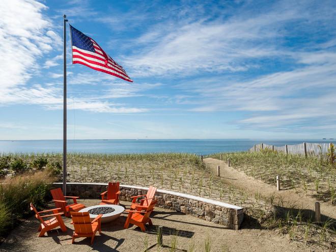 Beach house firepit. Beach house backyard with fire pit. #beachHouse #firepit #backsyard Artemis Landscape Architects, Inc.