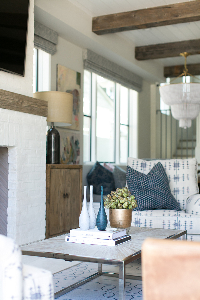 Living room decor. Living room. Living room ideas. The interior designer, Brooke Wagner Design, truly knows how to put a room together. I love the pieces she chose for the living room. Patterson Custom Homes