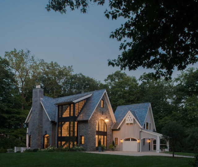 Modern Farmhouse Exterior Modern Farmhouse Exterior Design With Board And Batten Siding And Stone Exterior