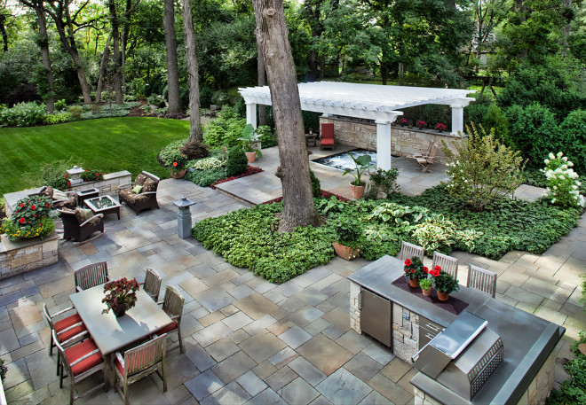 Outdoor Kitchens: Making the Dream a Reality - Home Bunch ... on Nice Backyard Landscaping Ideas id=23853