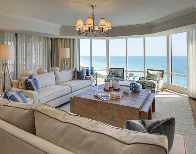Elegant Florida Condo with Coastal Interiors - Home Bunch ... on Living Room:5J0Grrq-Soy= Curtains Design  id=96363