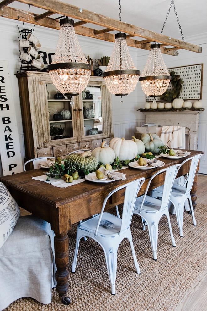2016 Farmhouse Fall Decorating Ideas - Home Bunch Interior ... on Farmhouse Dining Room Curtains  id=78894