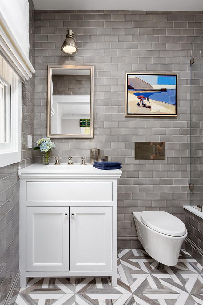 Bathroom Reno with Grey Subway Tile - Home Bunch Interior ... on Bathroom Ideas Subway Tile  id=75960