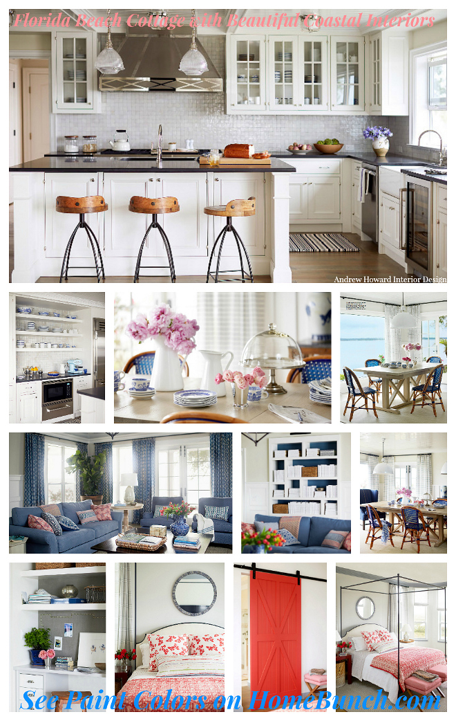 Florida Beach Cottage with Beautiful Coastal Interiors. See designer sources and paint colors on Home Bunch. Florida Beach Cottage with Beautiful Coastal Interiors