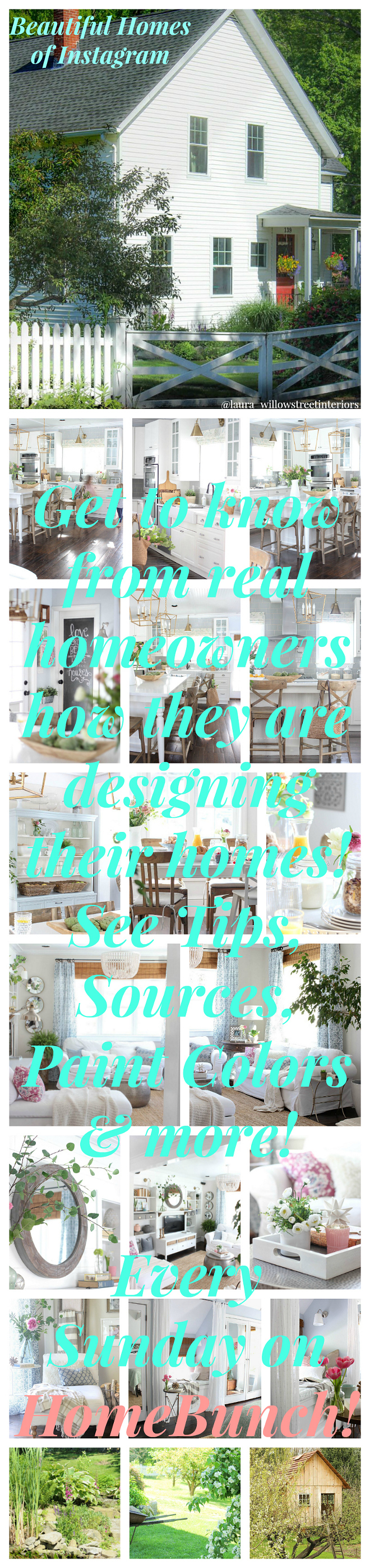 Beautiful Homes of Instagram. Beautiful Homes of Instagram Get to know how real homeowners are designing their homes! Every Sunday on HomeBunch