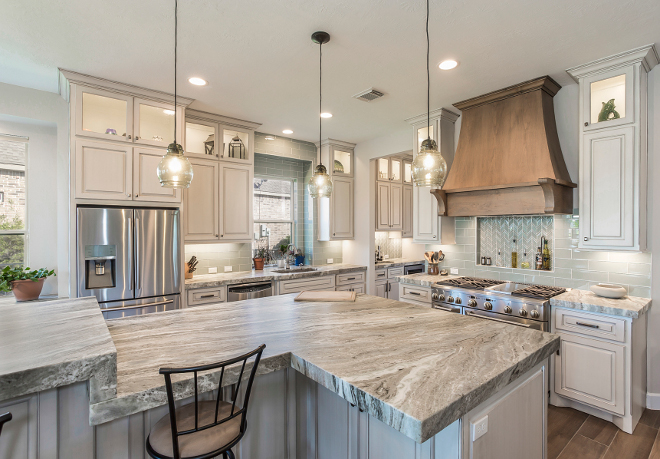 Leathered Kitchen Island Countertop. Countertops: Arizona Tile Fantasy Brown Leathered Quartzite. Leathered Kitchen Island Countertop. Leathered Kitchen Island Countertop. Leathered Kitchen Island Countertop #LeatheredKitchenIslandCountertop #LeatheredCountertop Morning Star Builders LTD