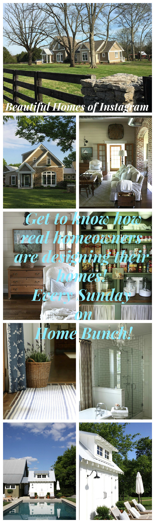 Beautiful Homes of Instagram Get to know how real homeowners are designing their homes! Every Sunday on HomeBunch