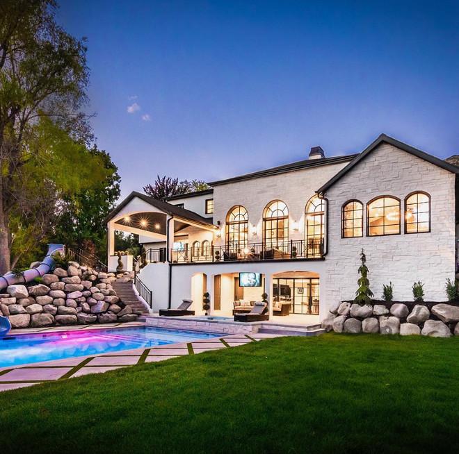 French Home Backyard. French Home Backyard. French Home Backyard #FrenchHome #Backyard Tree Haven Homes. Danielle Loryn Design