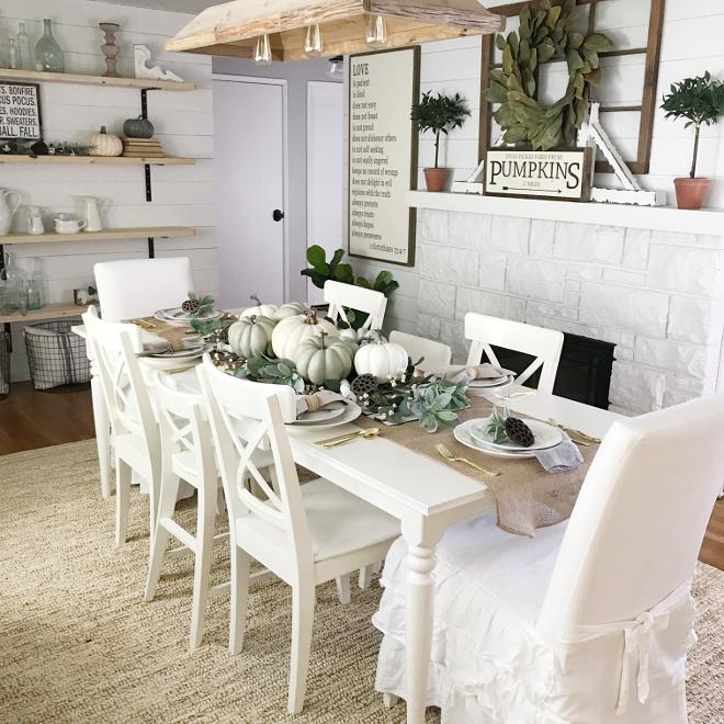 Farmhouse Dining Room Fall Decor Ideas - Home Bunch ... on Farmhouse Dining Room Curtains  id=23750