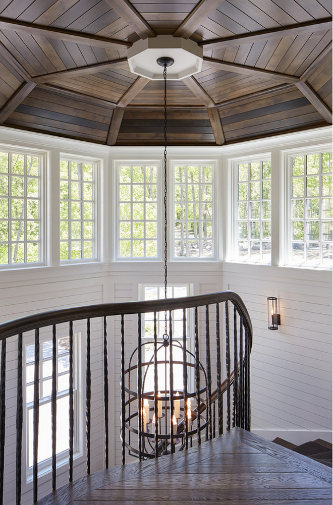 Shiplap Ceiling. Curved Staircase Shiplap Ceiling. Curved Staircase Shiplap Ceiling. Curved Staircase Shiplap Ceiling #CurvedStaircase #Shiplap #Ceiling John Kraemer & Sons