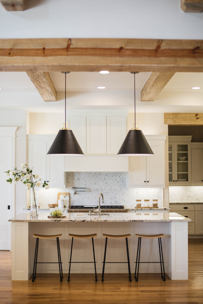 Transitional Farmhouse Interior Design - Home Bunch ... on Rustic:1Gdhjdx6F3G= Farmhouse Kitchen  id=68499